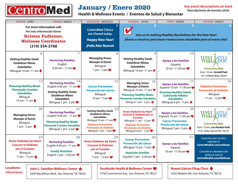 Wellness Education Classes Centromed